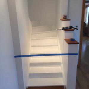 trapp renovering efter